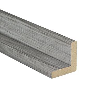 Angolare in mdf grigio 2.18 m x 24 mm, Sp 24 mm