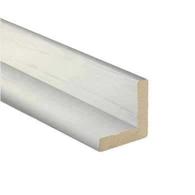 Angolare in mdf bianco 2.18 m x 24 mm, Sp 24 mm