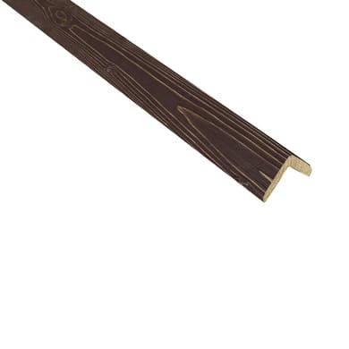 Paraspigolo in abete noce antico 3 m x 28 mm, Sp 28 mm