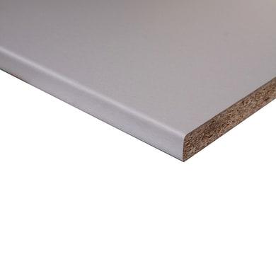 Piano di lavoro in legno alluminio L 208 x P 60 cm, spessore 2.8 cm