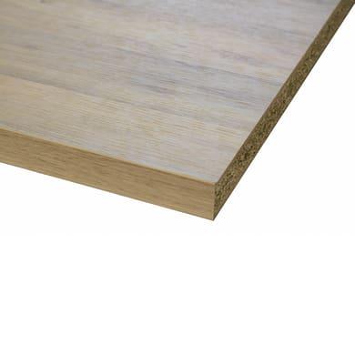 Piano di lavoro in legno ciliegio L 420 x P 60 cm, spessore 3.8 cm
