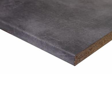 Piano di lavoro in legno cemento L 208 x P 60 cm, spessore 2.8 cm