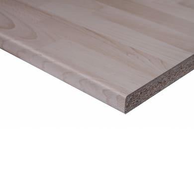 Piano di lavoro in legno faggio L 208 x P 60 cm, spessore 2.8 cm