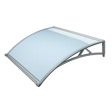 Pensilina in policarbonato L 140 x P 90 cm struttura PVC