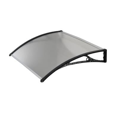 Pensilina ABS in policarbonato alveolare trasparente L 100 x P 60 cm struttura PVC