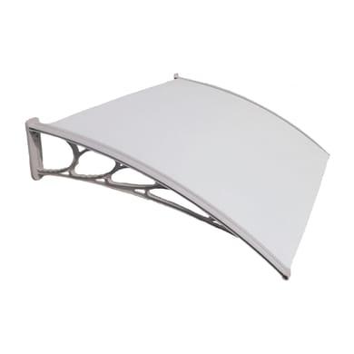 Pensilina in policarbonato alveolare grigio L 130 x P 100 cm struttura PVC