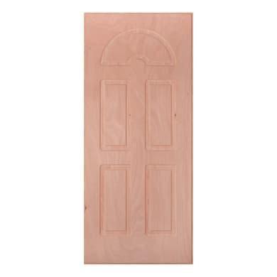 Pannello per porta blindata Okoumè impiallacciato legno noce L 80 x H 210 cm, Sp 14 mm
