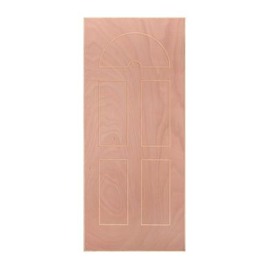 Pannello per porta blindata Okoumè impiallacciato legno noce L 80 x H 210 cm, Sp 8 mm