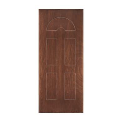 Pannello per porta blindata Okoumè pellicolato noce L 80 x H 210 cm, Sp 8 mm