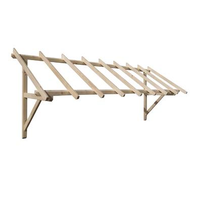 Tettoia Helios in legno L 305 x P 100 cm struttura Legno