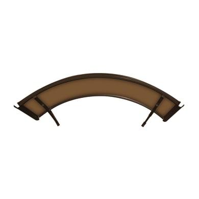 Pensilina Arco in policarbonato marrone L 160 x P 120 cm struttura Alluminio