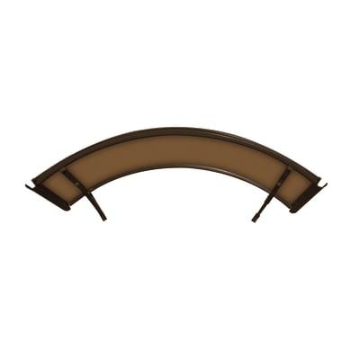 Pensilina Arco in policarbonato marrone L 140 x P 90 cm struttura Alluminio