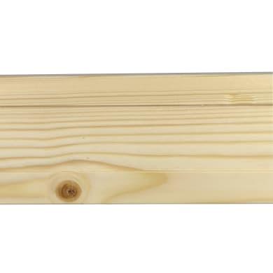 Coprifilo in legno legno massello naturale L 2250 x P 10 x H 70 mm