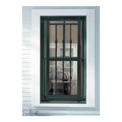Grata blindata Basic 80 x 155 cm grigio / argento