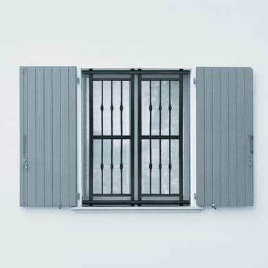 Grata blindata Basic 120 x 155 cm grigio