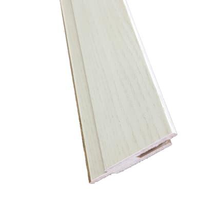 Kit coprifilo Brooklyn 2,5 pz in legno  frassino bianco L 2250 x P 9 x H 65 mm