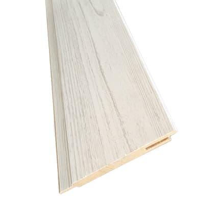 Kit coprifilo Notting Hill 2,5 pz in legno  bianco jurga pinie L 2250 x P 9 x H 115 mm