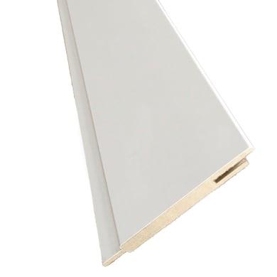 Kit coprifilo Pearl 2,5 pz in legno  bianco L 2250 x P 9 x H 115 mm