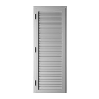Persiana blindata  anta Vesta in ferro L 80 x H 220 cm grigio / argento