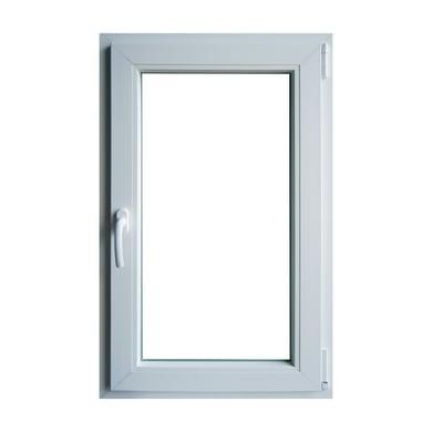 Finestra in pvc bianco L 60 x H 100 cm, 1 anta oscillo-battente apertura destra