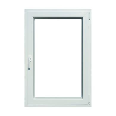 Finestra in pvc bianco L 80 x H 120 cm