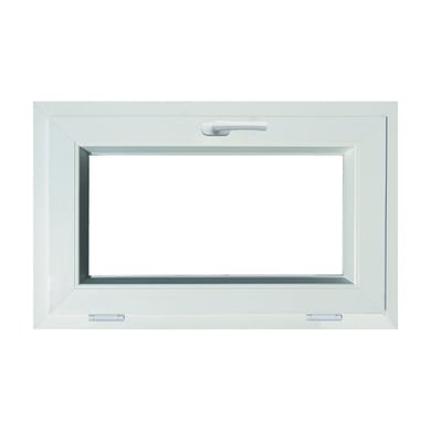 Finestra in pvc bianco L 80 x H 50 cm