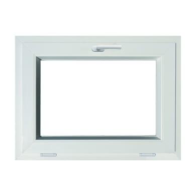 Finestra in pvc bianco L 80 x H 60 cm