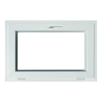 Finestra in pvc bianco L 90 x H 60 cm, 1 anta vasistas apertura superiore