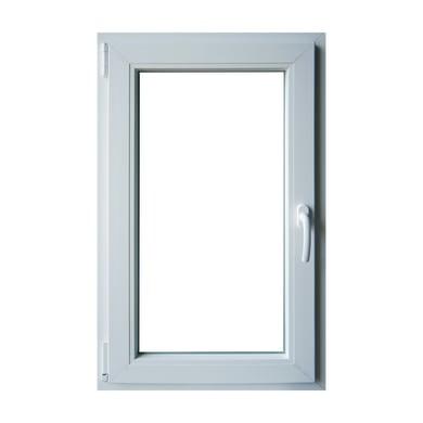 Finestra in pvc bianco L 60 x H 100 cm, 1 anta oscillo-battente apertura sinistra