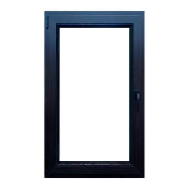Finestra in pvc noce scuro L 60 x H 100 cm, 1 anta oscillo-battente apertura sinistra