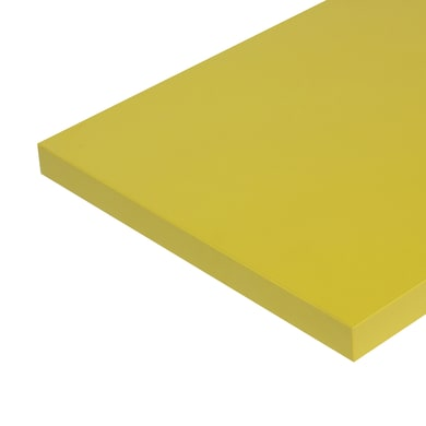 Ripiano melaminico ARTENS 100 x 30 cm Sp 25 mm , giallo