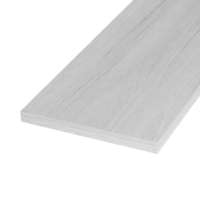 Ripiano melaminico ARTENS 100 x 20 cm Sp 18 mm , rovere bianco