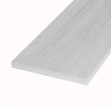 Ripiano melaminico ARTENS 100 x 30 cm Sp 18 mm , rovere bianco