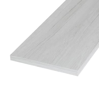 Ripiano melaminico ARTENS 120 x 40 cm Sp 18 mm , rovere bianco