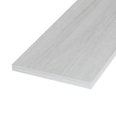 Ripiano melaminico ARTENS 60 x 40 cm Sp 18 mm , rovere bianco