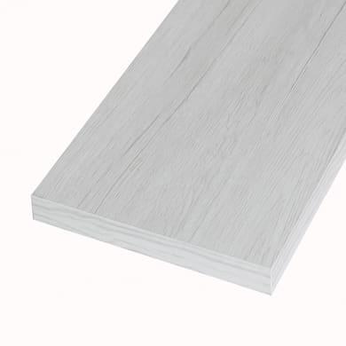 Ripiano melaminico ARTENS 100 x 30 cm Sp 25 mm , rovere bianco