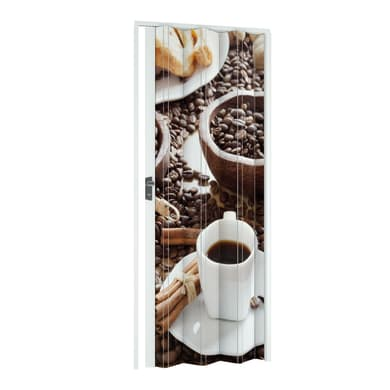 Porta a soffietto Bar in pvc multicolore L 115 x H 214 cm