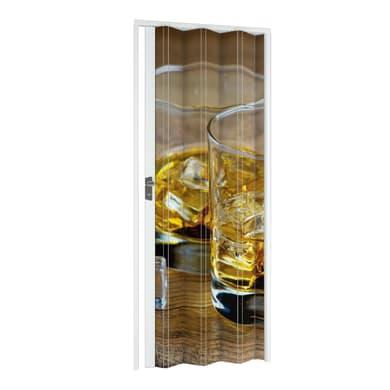 Porta a soffietto Drink in pvc multicolore L 89.5 x H 214 cm