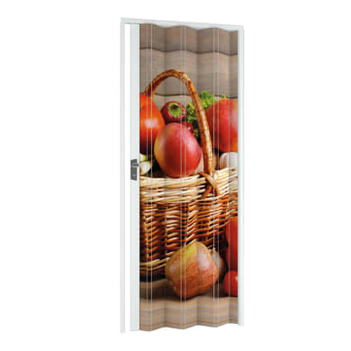 Porta a soffietto Fruit in pvc multicolore L 89.5 x H 214 cm