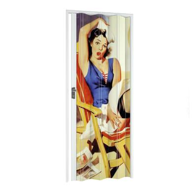 Porta a soffietto Lady in pvc multicolore L 89.5 x H 214 cm