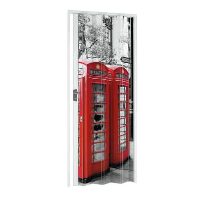 Porta a soffietto London in pvc multicolore L 89.5 x H 214 cm