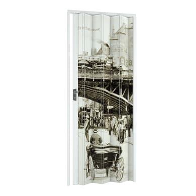 Porta a soffietto Vintage in pvc multicolore L 89.5 x H 214 cm