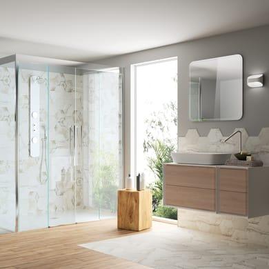 Mobile bagno Bellagio rovere e bianco L 176 cm
