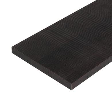 Ripiano melaminico ARTENS 100 x 20 cm Sp 18 mm , rovere scuro