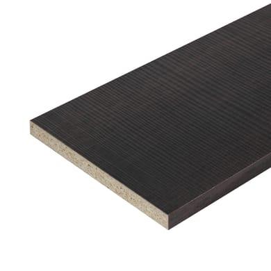 Ripiano melaminico ARTENS 182 x 60 cm Sp 18 mm , rovere scuro