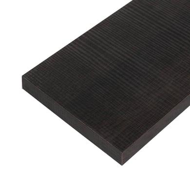 Ripiano melaminico ARTENS 100 x 30 cm Sp 25 mm , rovere scuro