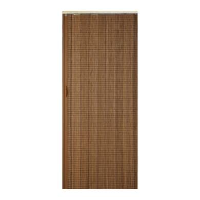Porta a soffietto Golden Oak in bambù marrone L 85 x H 214 cm