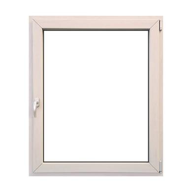 Finestra in legno bianco L 100 x H 120 cm, 1 anta oscillo-battente apertura destra