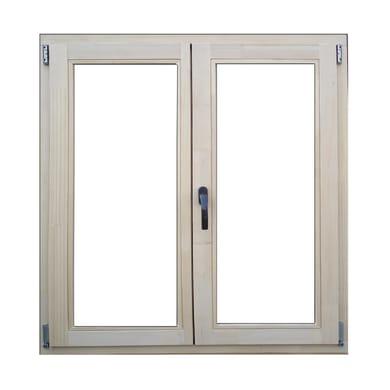 Finestra in legno marrone chiaro L 100 x H 120 cm