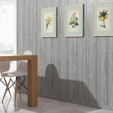 Perlina mdf opaco grigio chiaro L 218 x H 20 cm Sp 8 mm